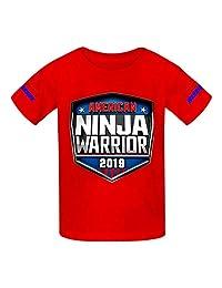 VOPSKJ14 American Ninja Warrior Youth Cotton T-Shirts Unisex Child Short Sleeve Tee Shirt