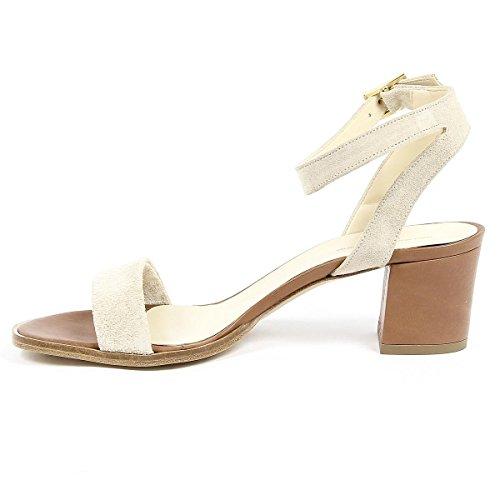 V 1969 Italia Womens Ankle Strap Sandal Beige Anna