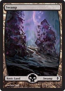 Swamp Foil (Magic: the Gathering - Swamp - Full Art Foil (239) - Zendikar - Foil)