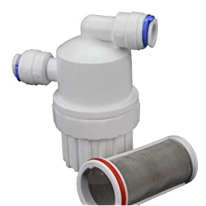 Inline Pre-filter Booster Pump RO REVERSE OSMOSIS WATER FILTER CONNECTOR DI by Cz Garden Supply