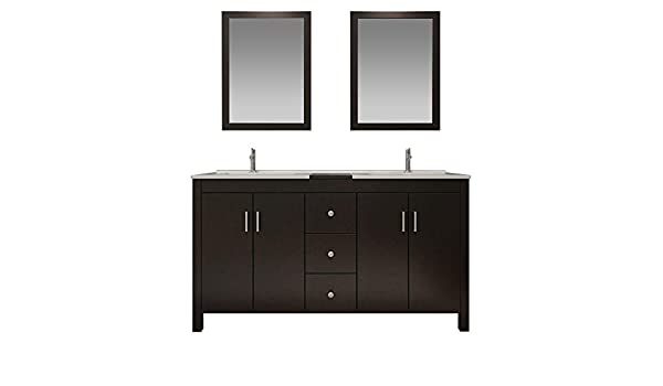 Swell Dkb Douglas Series 72 Inch Solid Wood Double Sink Bathroom Home Interior And Landscaping Ferensignezvosmurscom