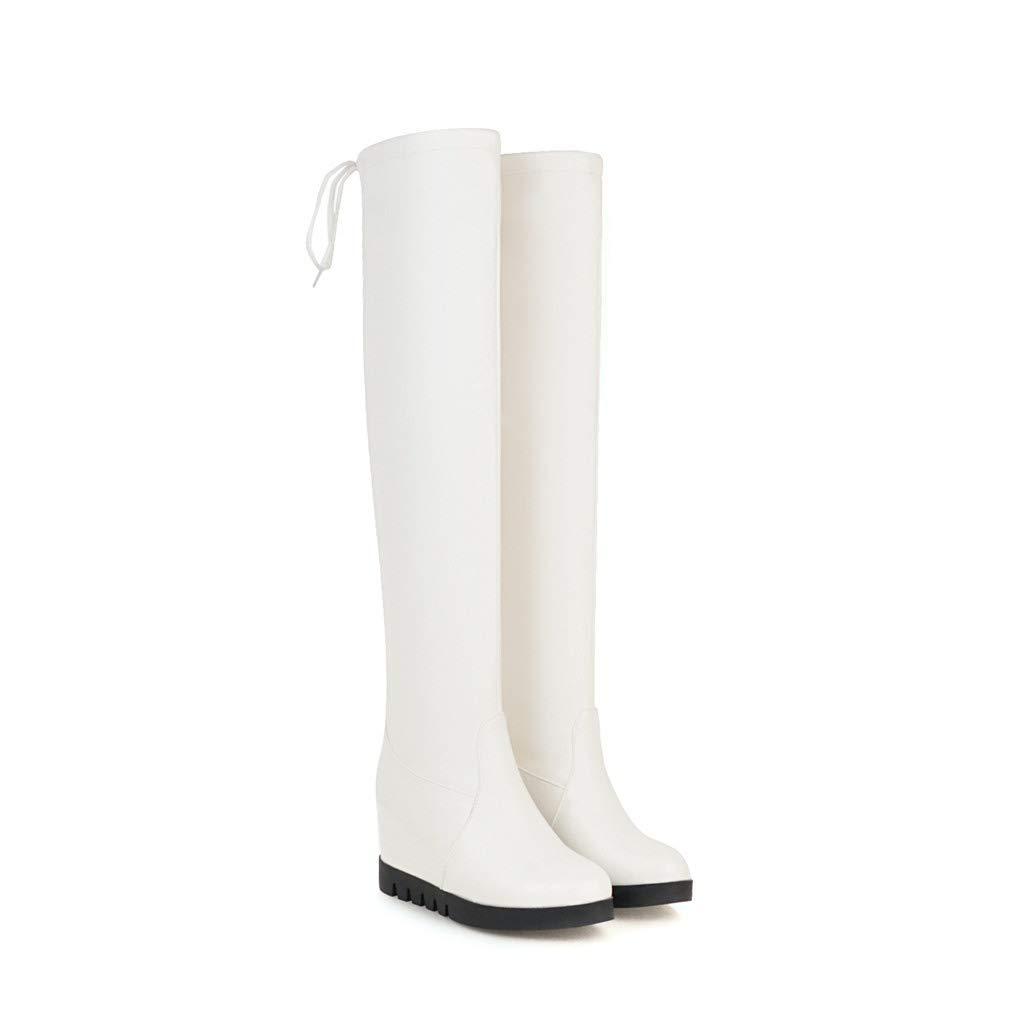 Damen Damen Damen Internal erhöhen hohen Over The Knee Long Stiefel 01225e