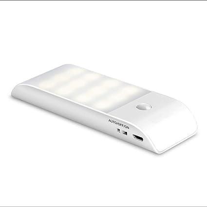 WTY Luz Nocturna De 12LED con Sensor De Movimiento, Luz Portátil Recargable con 3 Modos