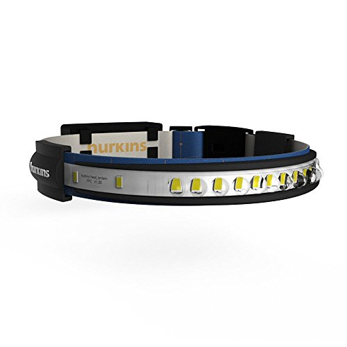 Hurkins Orbit, 180˚ Wide Angle Rechargeable Headlamp (Navy, Orbit)