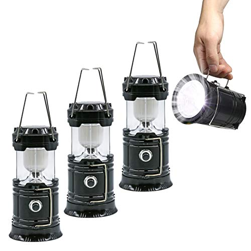 LED Camping Lantern with Flashlight,The Original & Best Lantern/Flashlight Combo,Great Light for Camping, Car, Shop, Attic, Garage etc.(3 PACK)