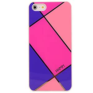HHMM Stylish Plaid Hard Case Protective Skin for iPhone 5 5S Screen Protector Included (A546J)