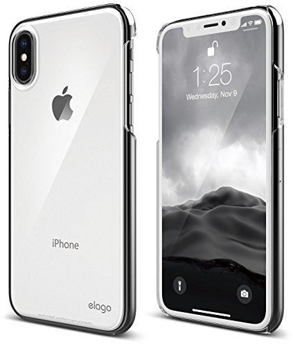 elago Slim Fit 2 Series iPhone Xs, iPhone X Case - Durable Scratch Resistant Coat Minimalistic Designed Protective Cover for Apple iPhone Xs (2018), iPhone X (2017) (Crystal Clear)
