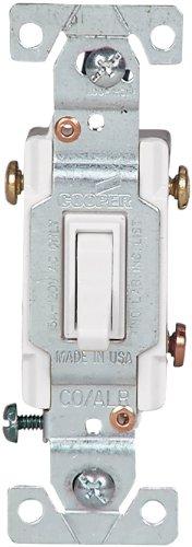 Cooper wiring 5223-7w-bu 3 way white copal switch