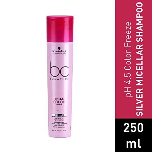 BC BONACURE pH 4.5 Color Freeze Silver Shampoo, 8.4-Ounce
