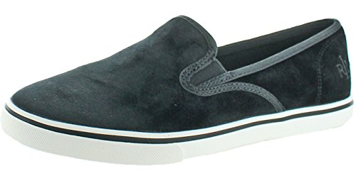RALPH LAUREN Lauren Janis Women's Slip-On Sneakers Black Size - On Ralph Lauren Slip