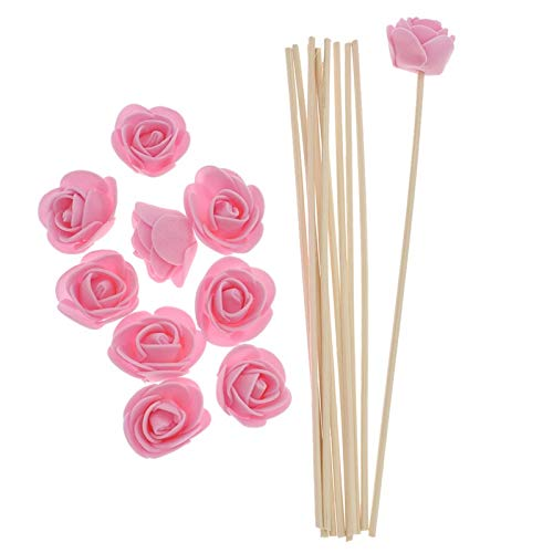 SeedWorld Reed Diffuser Sticks - 10pcs Artificial Flowers Fragrance Diffuser Replacement Sticks Rattan Refill for Incense Aromatherapy DIY Home Decoration 1 PCs by SeedWorld (Image #3)
