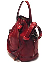 Floto Luggage Soft Lining Ciabatta Satchel, Tuscan Red, Small