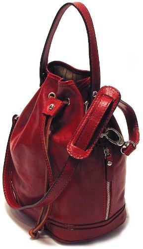 Floto Luggage Soft Lining Ciabatta Satchel, Tuscan Red, Small by Floto