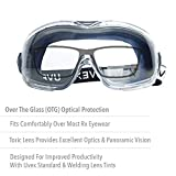 UVEX by Honeywell Stealth OTG Safety Goggles with