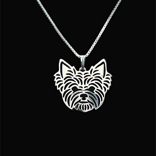 Yorkshire Terrier Silver Charm Pendant Necklace, Dog Lover, Friend Gifts Yorkie