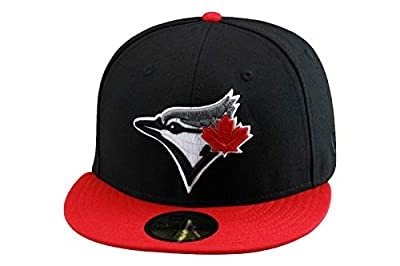 New Era Toronto Blue Jays Fitted Hat Cap Black/Red