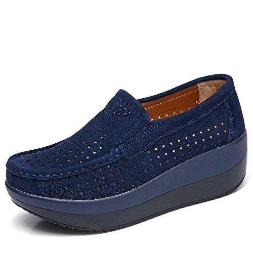 Scarpe Basse Basse Traspiranti Per La Donna Primavera Estate Moda Casual Sneakers Blu