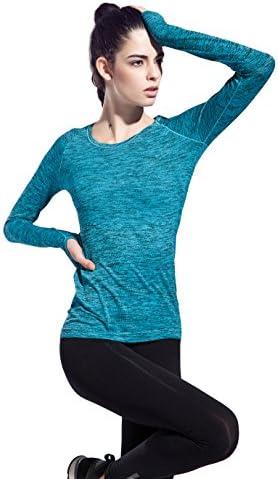 長袖 Tシャツ トレーニングウェア レディース 吸汗速乾 ヨガ ランニング 指穴 フィットネス 色柄 スポーツ トップ