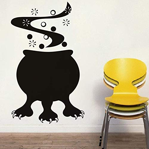 zxfcccky Halloween Cauldron Monster Vinyl DIY Wall Sticker for Living Room Removable Adhesive Wall Decor Decals Home Decoration Wall -