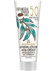 Australian Gold Botanical Sunscreen SPF 50 Tinted Face Mineral Lotion, 3 Fl Oz