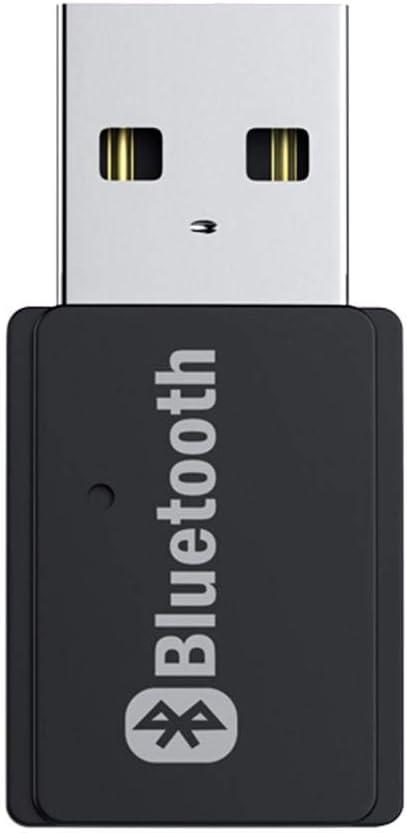 Szseven USB Bluetooth, Bluetooth 5.0 Transmisor Adaptador Bluetooth Receptor De Música Mini USB Bluetooth Dongle para Windows 10/8 / 7 / Vista/XP Laptop PC