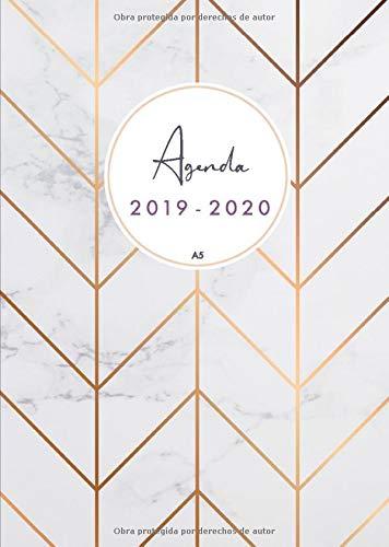 Agenda 2019-2020 a5: Organiza tu día - Agenda semanal - julio 2019 a diciembre 2020 - español  - diseño de mármol por Papeterie Collectif