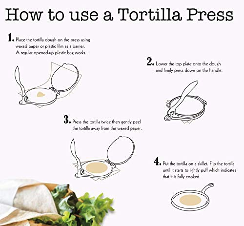 Cast Iron Tortilla Press and Pataconera, Pre Seasoned Heavy Gauge, 8 inch by Kitchen Gourmand by Kitchen Gourmand (Image #6)