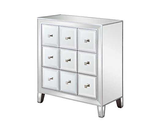 Scott Living Accent Cabinet with 9-Drawer Mirrored Panels
