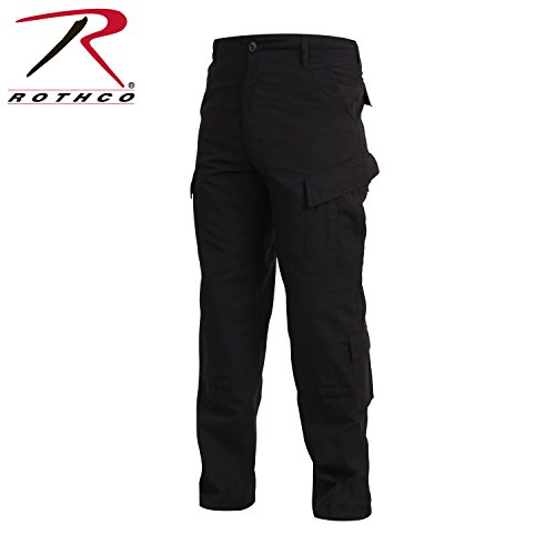 Rothco Combat Uniform Pants, Black, Small