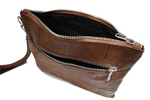 Dimensione Bolso Cuero Asas Seppia Hombre Compatta Leather Para De Marrón Vietri Marrone 1qHwx
