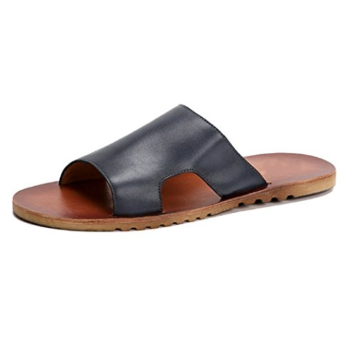 NTUMT Estate Sandali da Uomo All'aperto Antiscivolo Scarpe da Spiaggia Moda Casual Open Toe Comodo Blackash