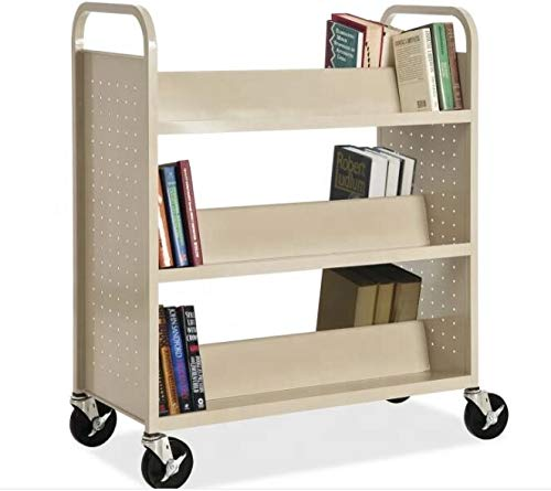 Library Double Sided Book Trolley/Mobile Steel Book Cart for ()