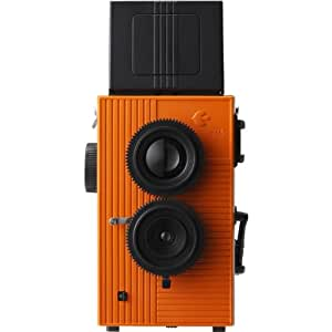 Blackbird Fly 35mm TLR Twin Lens Reflex Camera - Black with Orange Face [Camera]