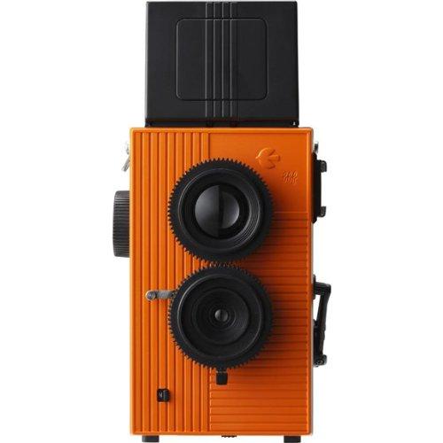Merle Fly TLR double objectif 35 mm pour appareil photo Reflex-Noir/Orange pour appareil photo pour le visage Powershovel 30133