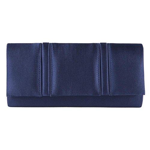 Clutch-tasche, Rosalinda Blau, satin