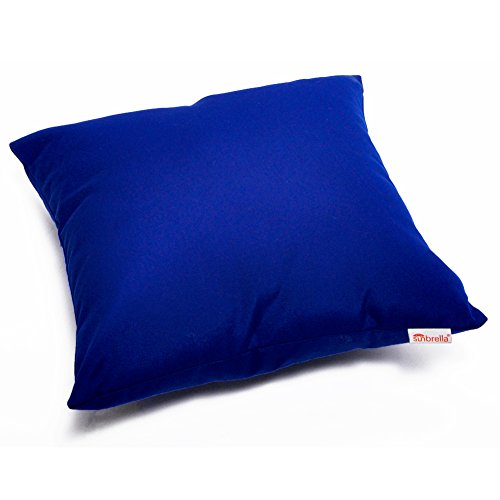 Set of 2 Sunbrella Decorative Indoor/Outdoor Accent Throw Pillow Cushion Cover case for Couch, Bed, Sofa or Patio, 18 x 18 Inch (Canvas True Blue) (Best Price On Outdoor Furniture)