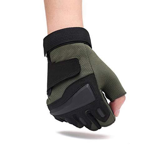 Guantes deportivos con medio dedo Guantes antideslizantes para hombres, en otoño e invierno, para ejercicios al aire libre...