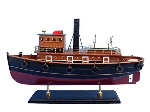 Hampton Nautical Wooden River Rat Tugboat Model - Nautical Tug