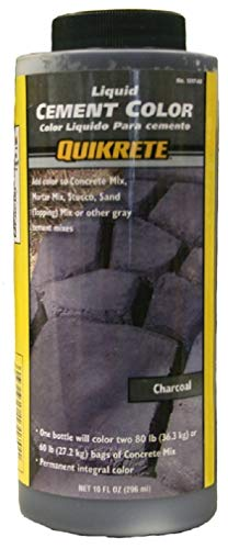 Quikrete 1317-00 Liquid Cement Color, 10oz, Charcoal (Stone Marble Over Fireplace)