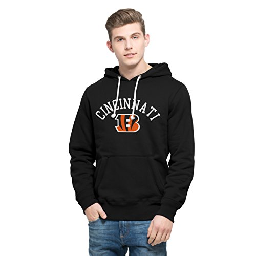 NFL Cincinnati Bengals Men's 47 Cross Check Printed Hoodie, X-Large, Jet Black
