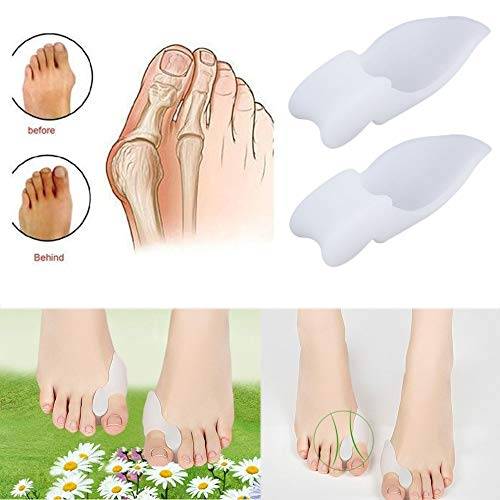 Toe separators - 2pcs Silicone Gel Foot Pad Fingers Separator Two Hole Toe Separator Thumb Valgus Protective Bunion Adjuster Hallux Valgus Guard from Nail's world