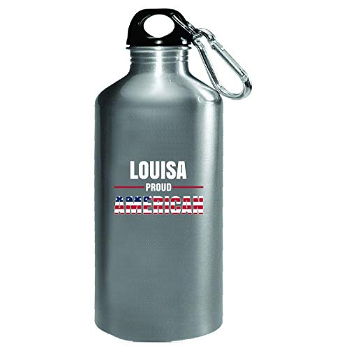 - Louisa Proud American 4th July Independence Day Gift - Water Bottle