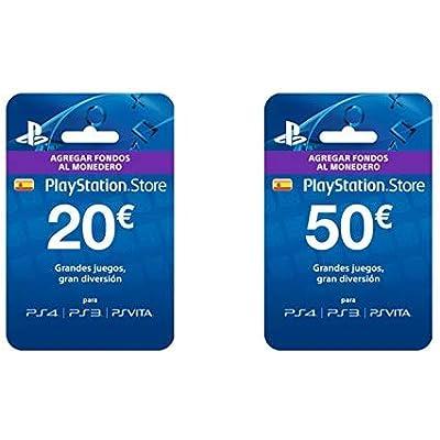 Sony- Tarjeta Prepago 20€ (Código Digital) &  Tarjeta Prepago 50€ (PlayStation)