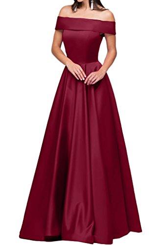 Festa vestito raso U A ressing Prom a rosso Party lunga ivyd donna Modern di abito sera abito line scollo vivo nW71T1Rq