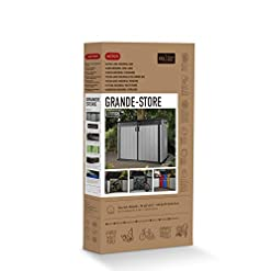 Keter Store it Out Grande Outdoor Plastic Garden Shed in Grey and Black