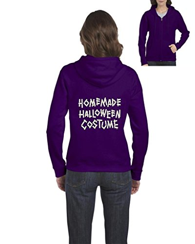 Blue Tees Homemade Halloween Costume Fashion Party People Best Friends Gift Couples Gifts Full-Zip Women Hoodie Small (Homemade Costume Dog Halloween)