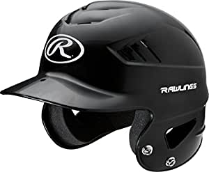 Rawlings Coolflo NOCSAE T-Ball Molded Helmet, Black, One Size