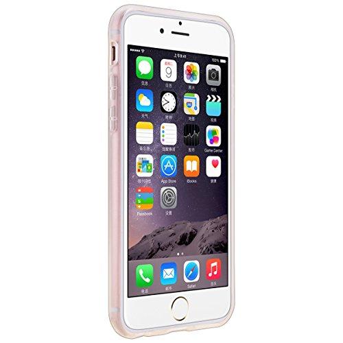 GrandEver Gel Silicone Custodia per iPhone 6 iPhone 6S(4.7),Transparente UltraSlim Morbido TPU Back Cover Bumper, Flexible Soft Protettivo Case Copertura Disegno Speciale - Girasole