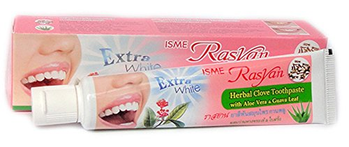 花束基礎見通し練り歯磨き ハーブ Thai Herbal Rasyan Herbal Clove Toothpaste (100 Gram Size)