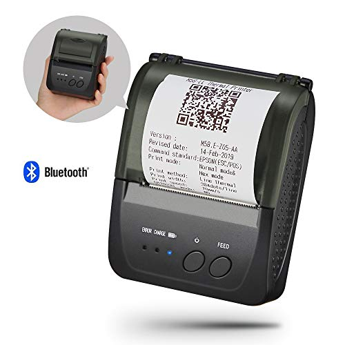 Mobile Mini Bluetooth Receipt Printer, 7 Days Standby, 2000mAh, 70mm/s, SVANTTO 58MM Portable Thermal Receipt Printer for Kitchen Support Windows, Android, Support ESC/POS Not for Square